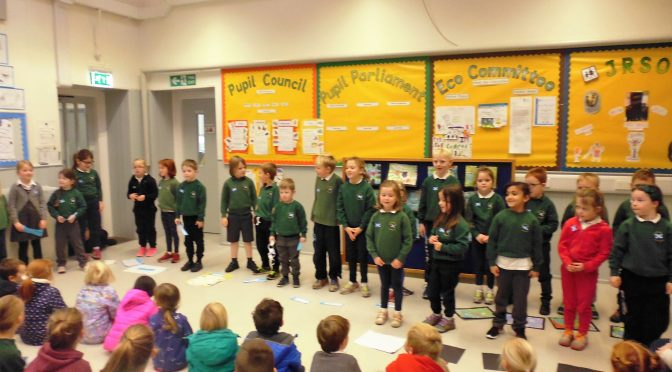 P1-3 St Andrews Day Assembly