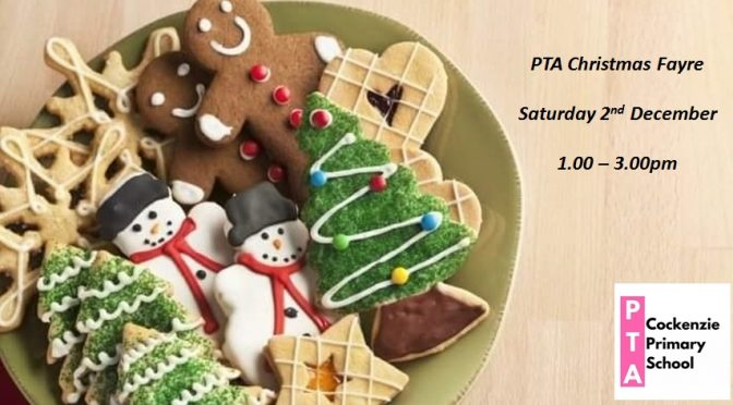 Christmas Fayre – message from the PTA