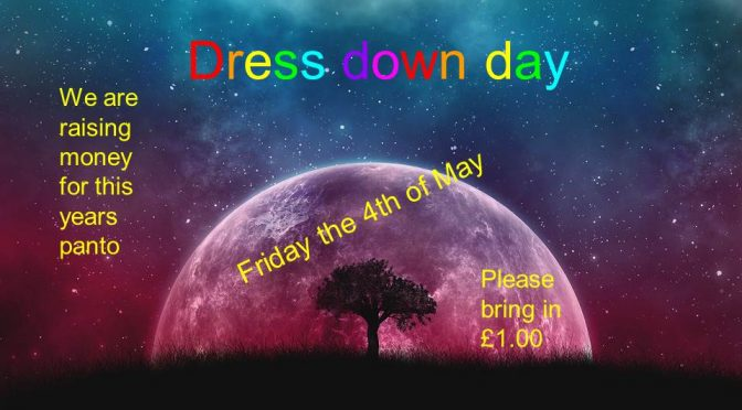 Dress Down Day – Friday 4th May
