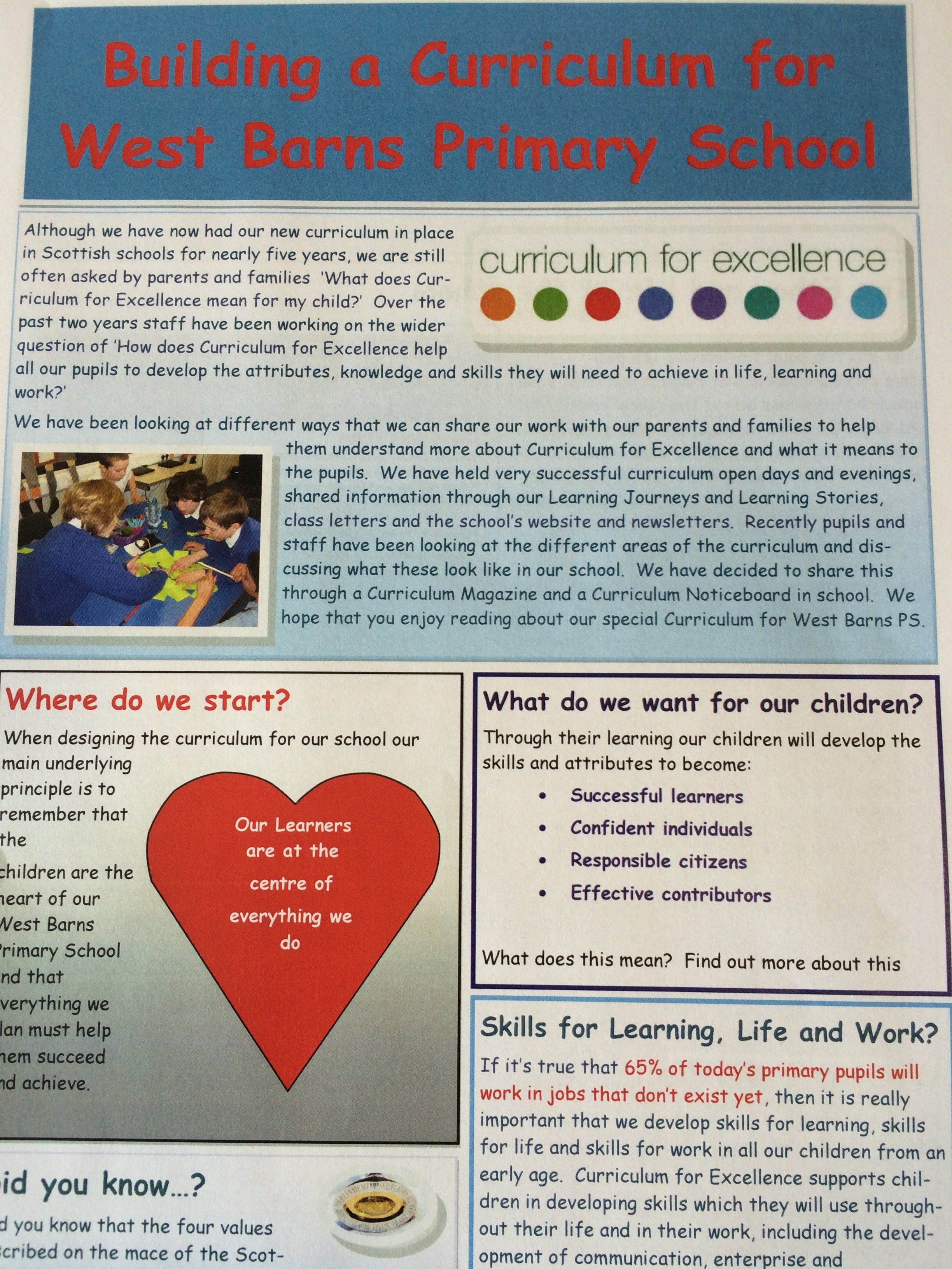 Curriculum for Excellence in East Lothian | Sharing and supporting ...