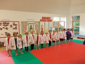 We all look very smart in our judo jackets!