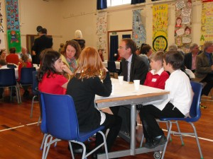 Dr Allan chats to the Pupil Council