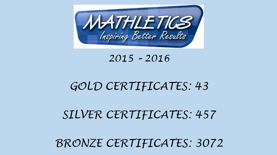 Mathletics 2015 - 2016