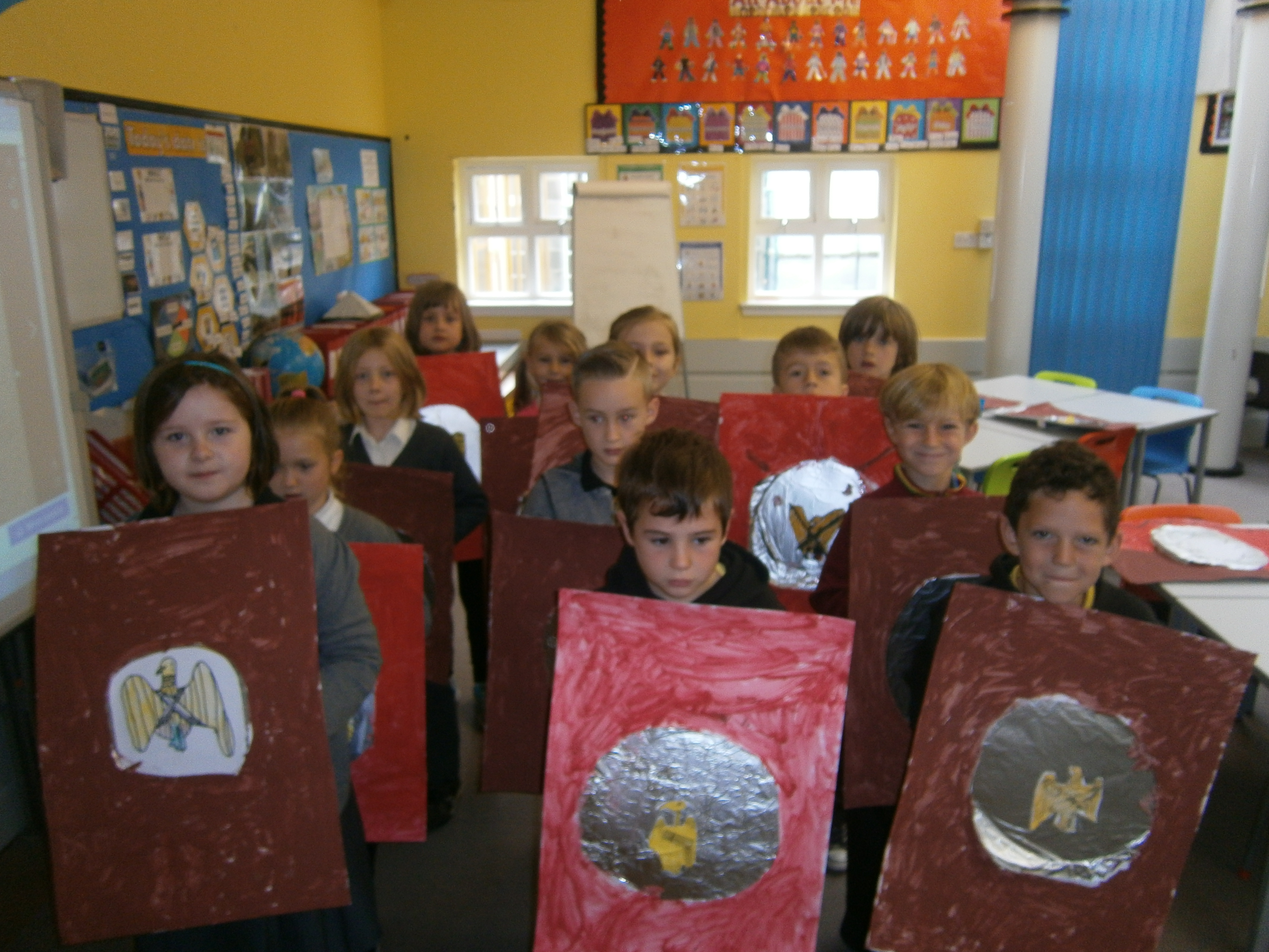The children will share what they have learned about the Romans with the rest of the school. If they would like to bring costumes they can, although it is not necessary. The children will perform different marches and formations as well as a song they have learned in music.