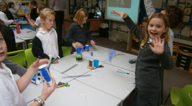 Primary 4 paper cup helicopters