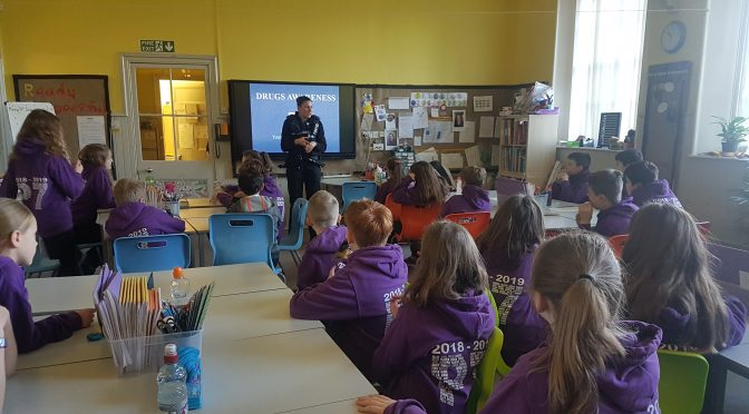 Community Police Officer visits P7