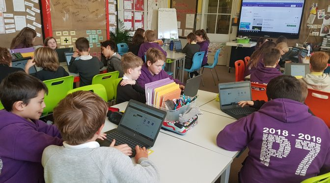 P4s and P7 join forces to learn ICT