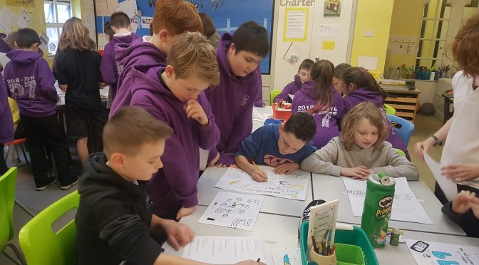 P7 share their learning with P6