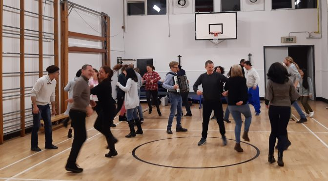 Ceilidh dancing for esol students
