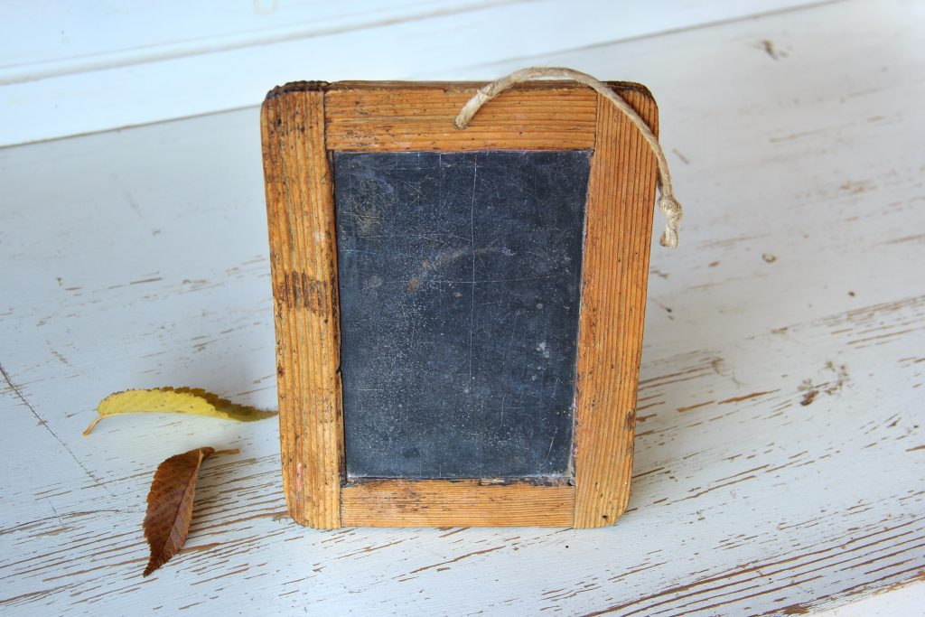 Wood Frame Mini Chalk Board: CC0 licensed image by Pexels.com https://www.pexels.com/photo/wood-frame-mini-chalk-board-159622/