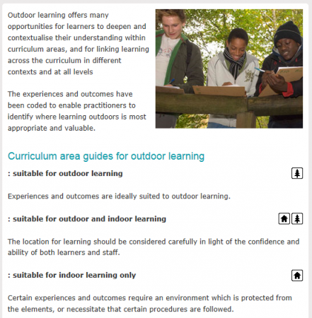 Curriculum guides for Outdoor Learning