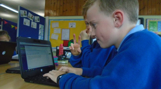 P5/6 Blogging On The New Chromebooks