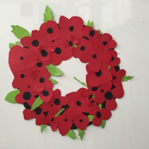 We all made a poppy to add to our wreath to commemorate Remembrance Day this year. doesn't it look great?!