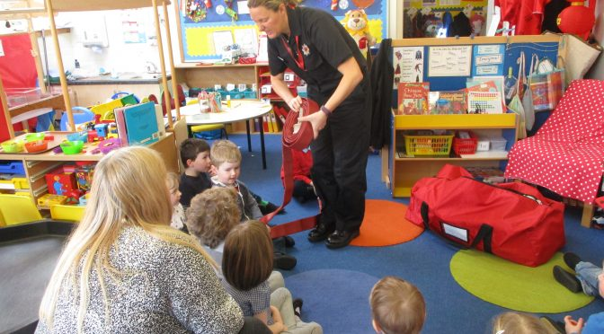 A Visit from a Fire-fighter
