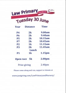 Race for Life Updated