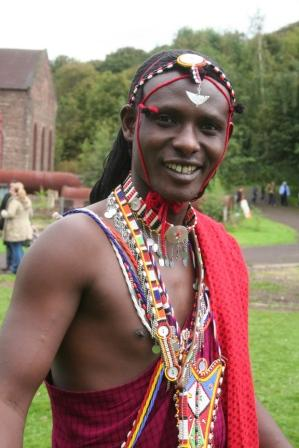 Maasai Warrior at Prestongrange