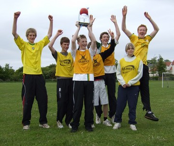 The victorious 7-a-side football team