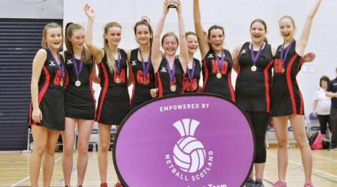 S3 Girls Netball School Schools Gold Cup Champions