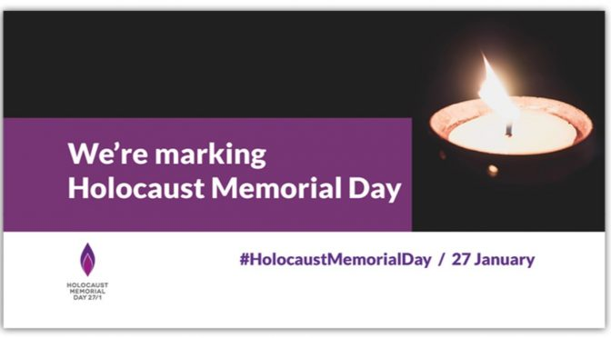 Holocaust Memorial Day 27 January 2021