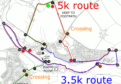 Click here to see the revised 5km route for the PTA's 2012 Fun Run