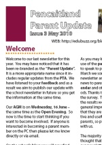 The Pencaitland Parent Update May 2010 - Click here to view the PDF