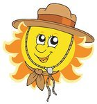Image result for sun has got his hat on clipart