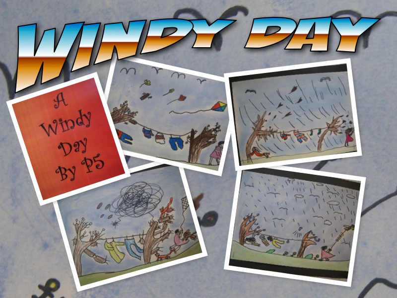 P5 Pupils Art Windy Day