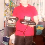 Charlie with the SEGA megadrive