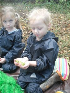 """""""How many acorns have I found?"""" S. age 4)"""