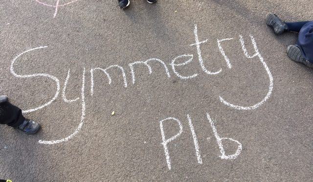 Outdoor learning with maths in P1B