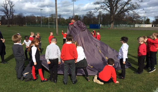 Outdoor learning and Space themed art.
