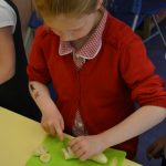 Burgh pupils making Gruffalo crumble