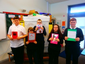 We made thank you cards for The East Lothian Educational Trust who gave us a grant for our climbing wall days.