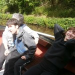 Nicole and Ben on the barge