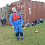 Ben all kitted out in waterproofs and buoyancy aid