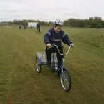 Jamie cycling