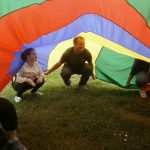Lauren enjoying parachute games