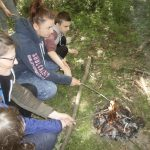 Stephen toasting marshmallows