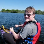 Chris canoeing