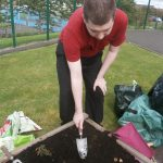 David Planting some spring bulbs