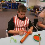 Darren starting work on a rocket