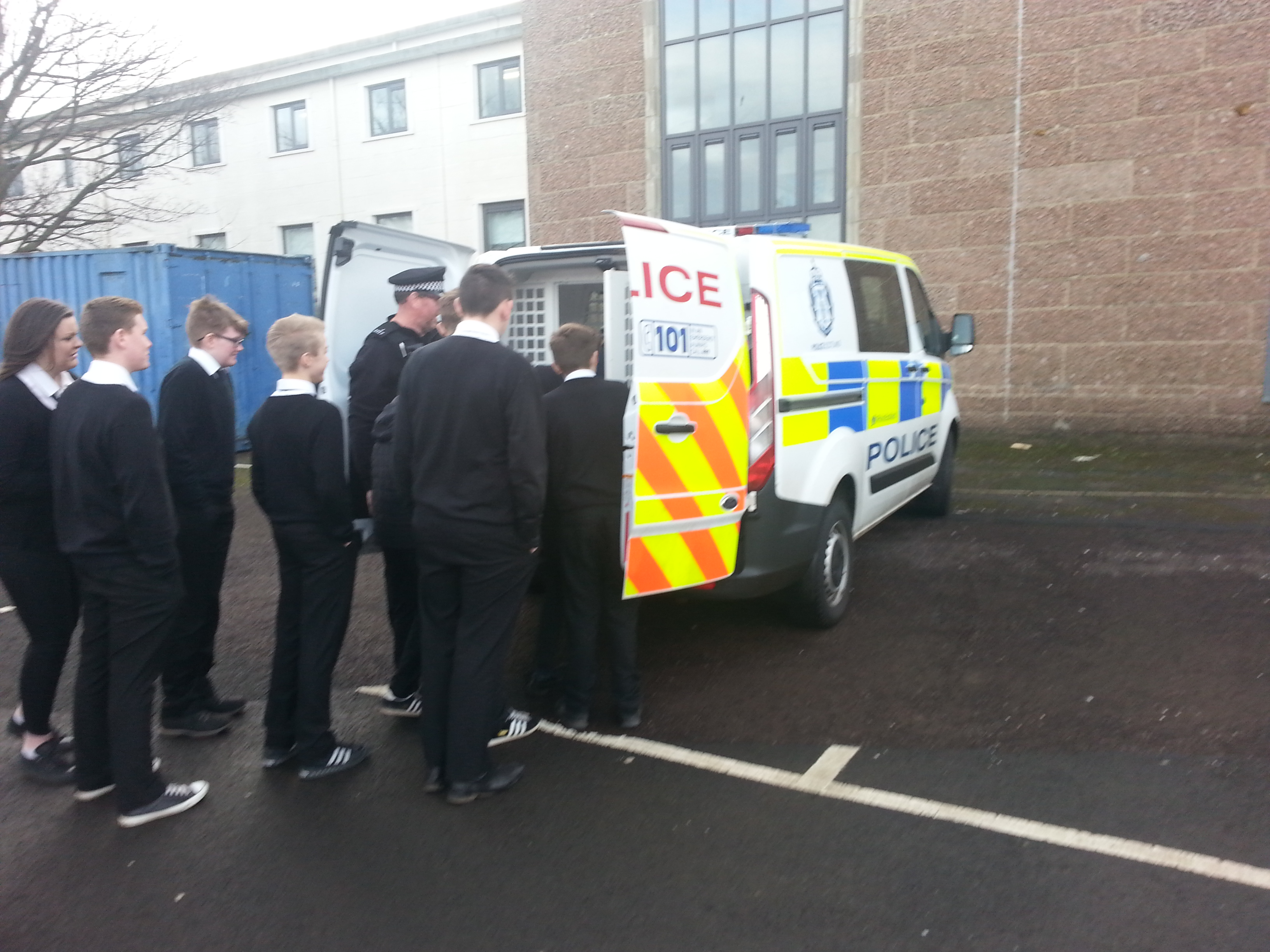 Modern High School Classroom Design ~ Police scotland visits csi ross high pupils arrested for