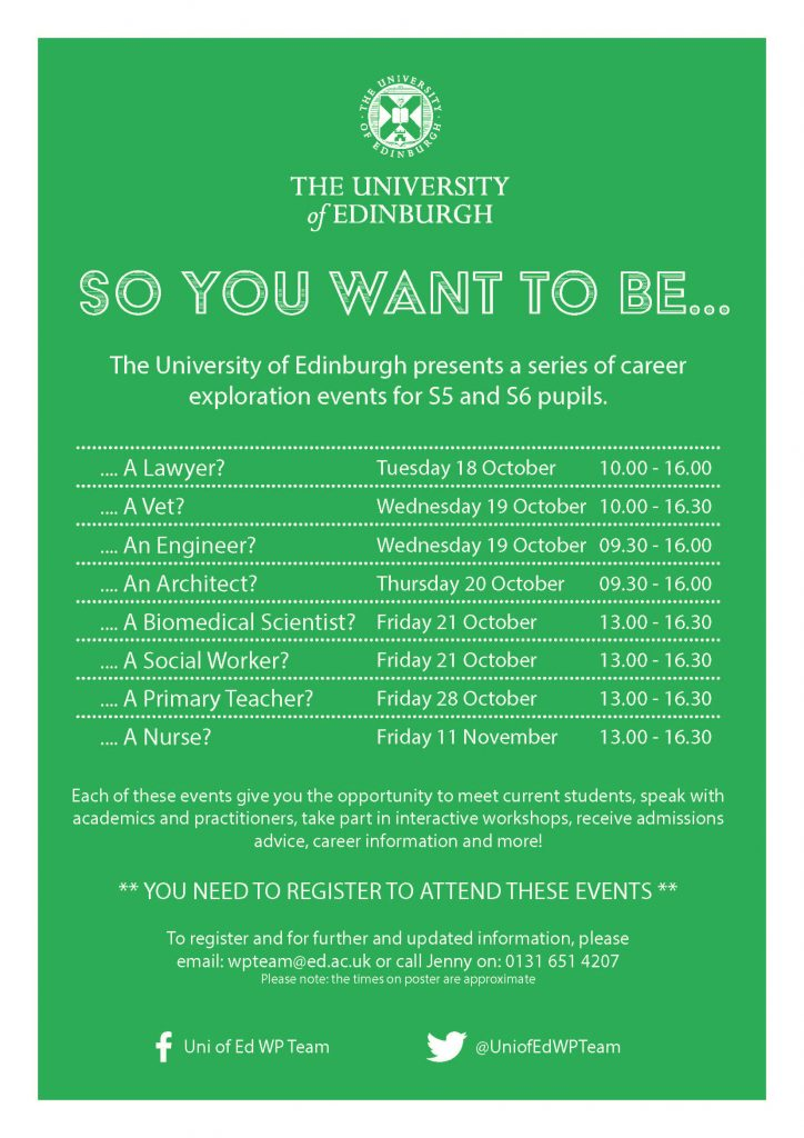 'So You Want To Be A...' - A4 Poster (Schools)