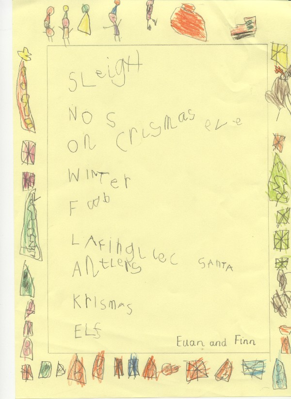 acrostic poems for children. Christmas acrostic poems.