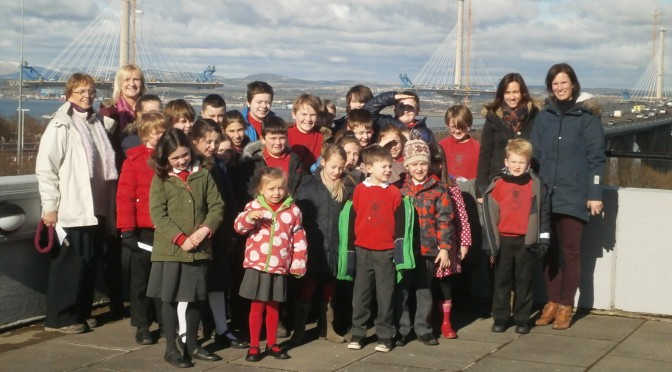 Stenton Primary experience engineering  at the fantastic Queensferry Crossing and Falkirk Wheel