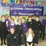 The School Banner was carried in procession by Daniel and Aide (P5). The picture shows all the children who participated and represented St. Gabriel's at the Mass.