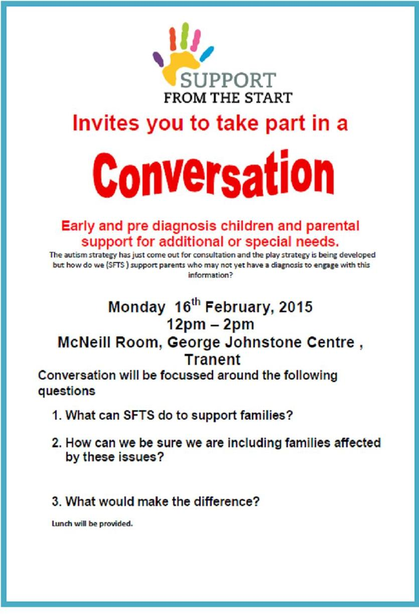 Tranent cluster group invite you to take part in a conversation conversation 16 feb 2015 stopboris Gallery