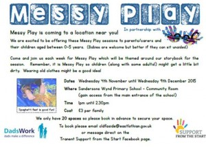 messy play poster