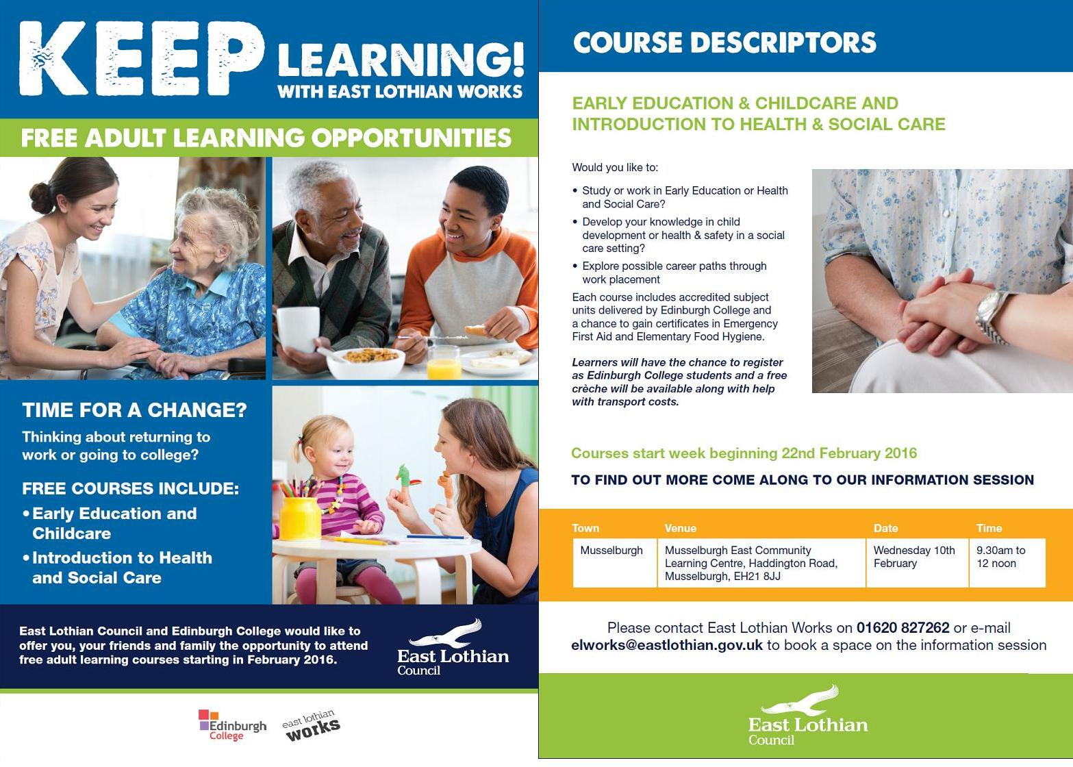 Adult Learning Opportunities 29