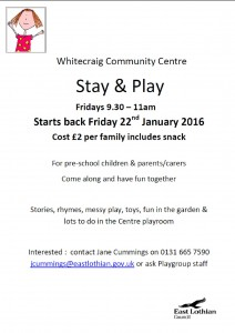Whitecriag CC stay and play